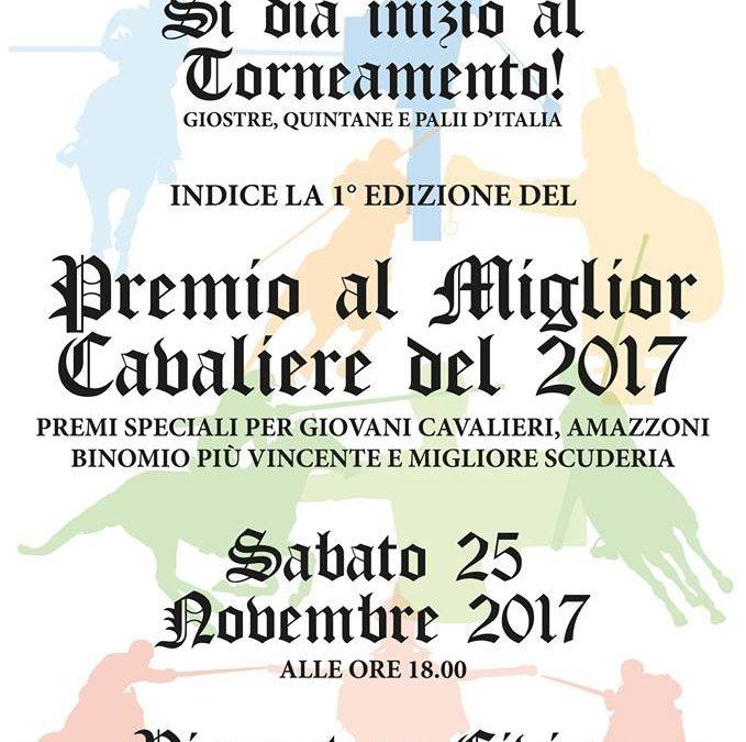 """Ad Ascoli Piceno la premiazione del """"Miglior cavaliere dell'anno 2017"""""""